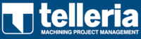 Logotipo Telleria negativo azul